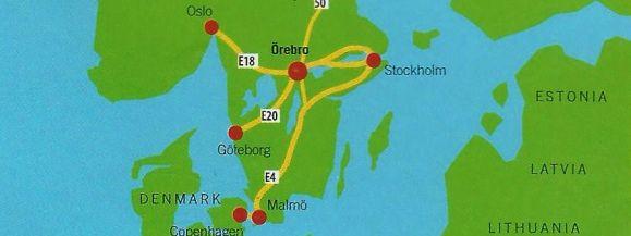 Örebro to miasto w środkowej Szwecji, położone w pobliżu ujścia rzeki Svartan do jeziora Hjälmaren.